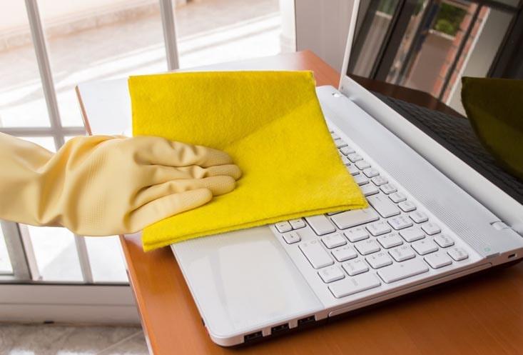 Rengör bärbar dator